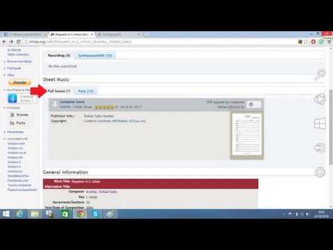 IMSLP - Guia fácil de como utilizar