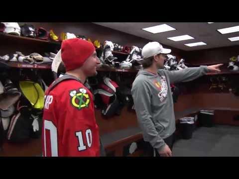 Patrick Sharp's locker room tour
