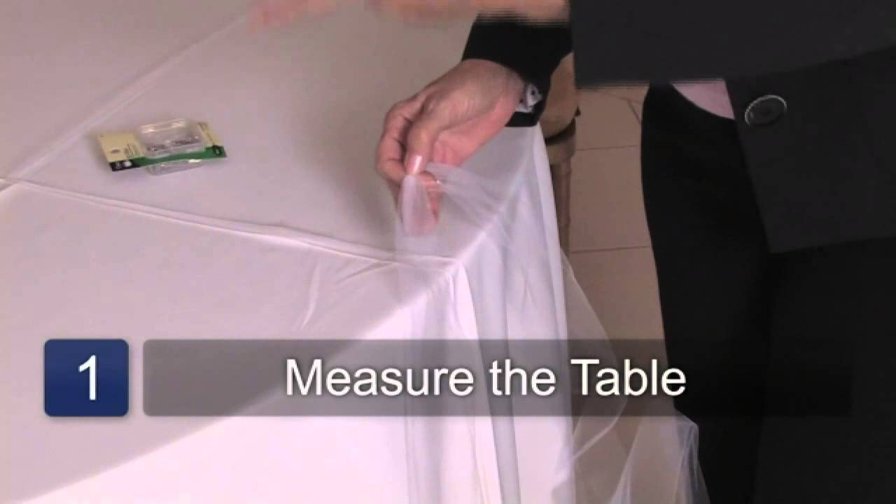 Delicieux How To Decorate Wedding Tables With Tulle   YouTube