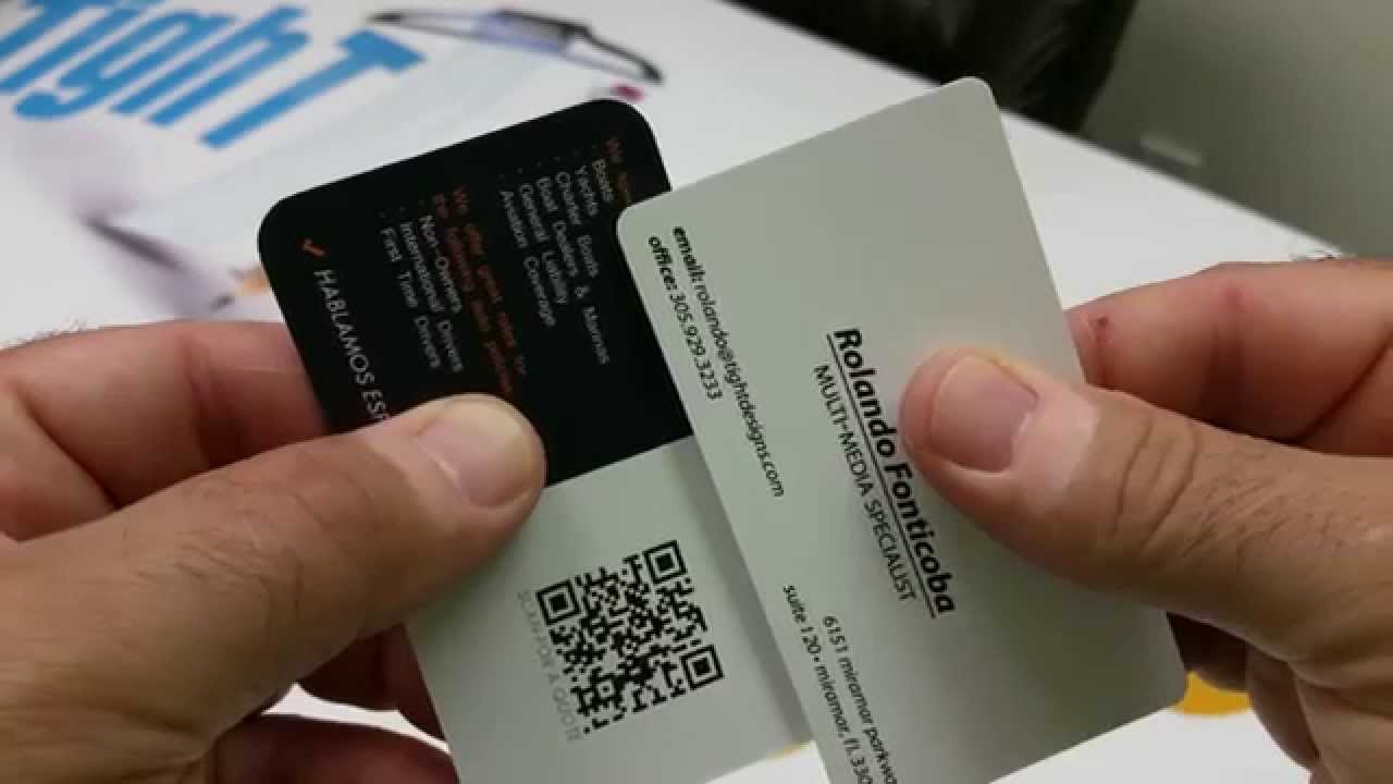 Rounded Corner Business Cards, Different Curve Radius - YouTube