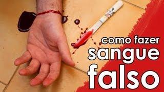 Como fazer sangue falso (sangue falso para Halloween)