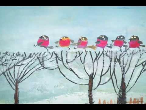 Мультфильм снегири и коты