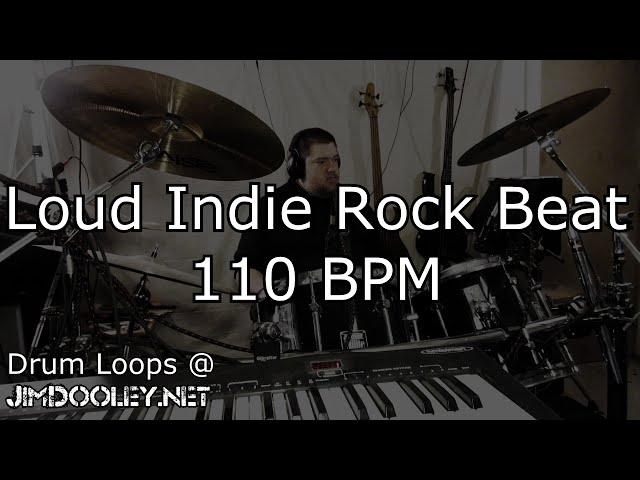 [20 Minute Beat] Loud Indie Rock Beat 110 BPM Variation 1