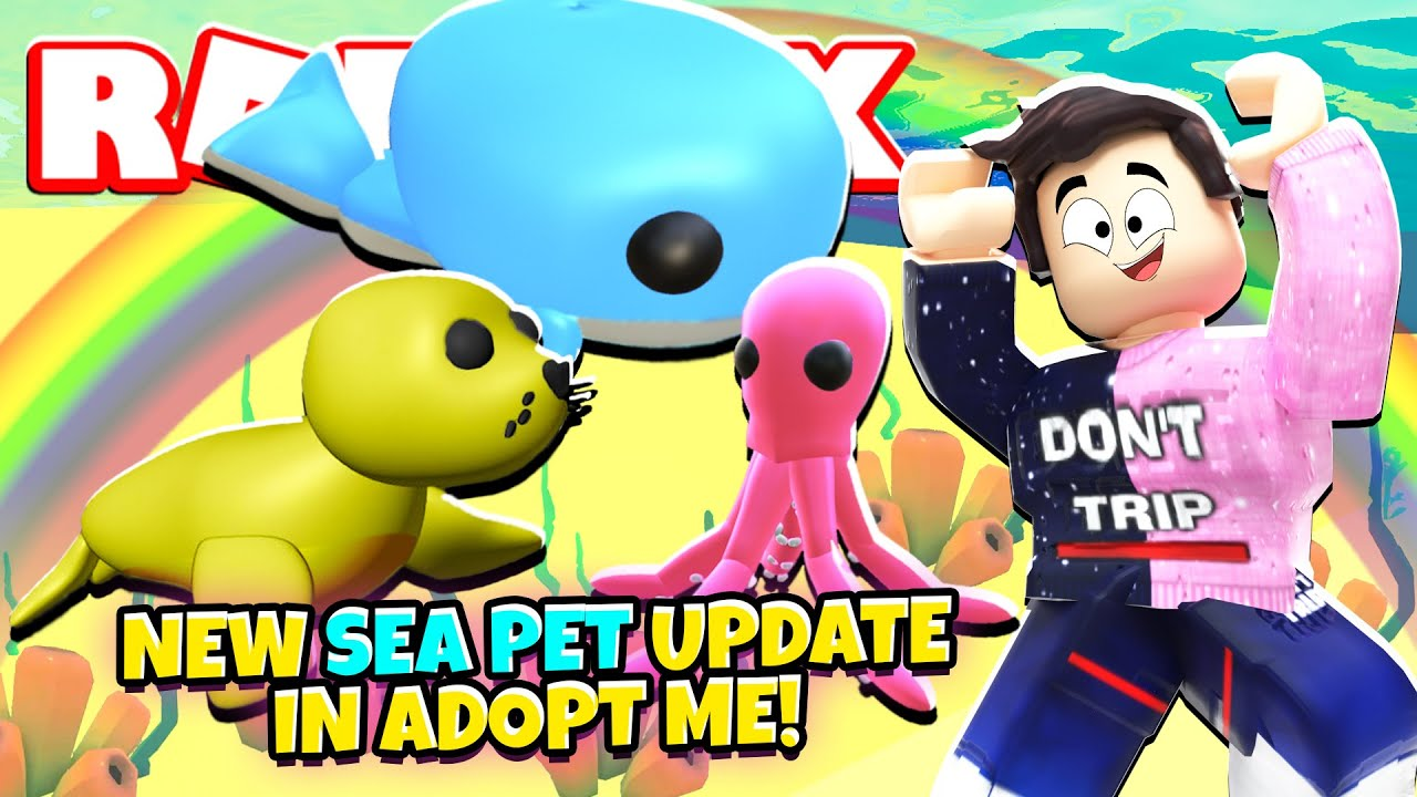 This Is The New Sea Pet Update In Adopt Me New Adopt Me Ocean Egg Update Roblox Youtube