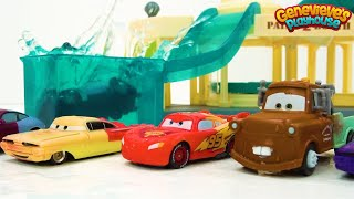 Color Chaning Disney Cars Learning Video for Kids - Race Day Fun!