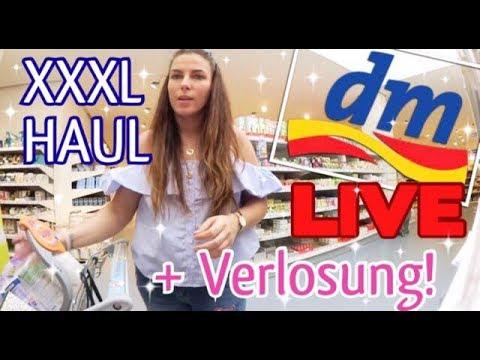 XXXL LIVE DM HAUL! Größter dm in Frankfurt! Voller Einkaufswagen + VERLOSUNG ♡