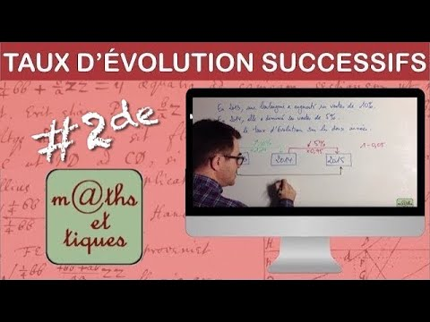 Calculer Des Taux D Evolution Successifs Premiere Youtube