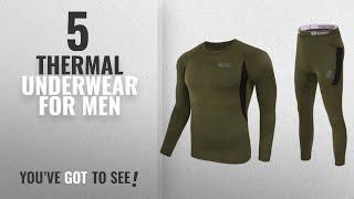 Top 10 Thermal Underwear For Men [2018]: Uniquebella Men's Winter Thermal Underwear Camouflage Set