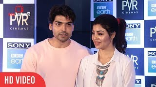 Gurmeet Choudhary & Debina Bonnerjee  At Sony BBC Earth | Blue Planet II Special Grand Screening