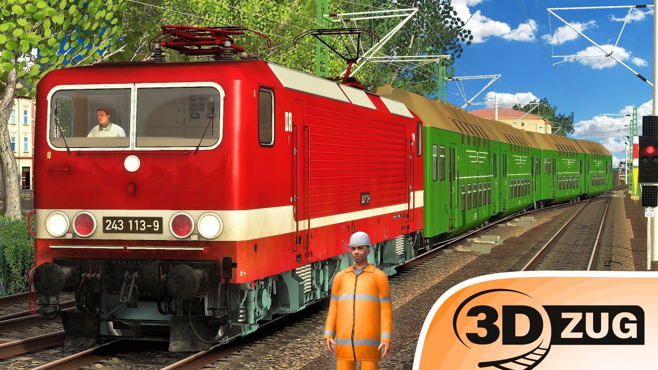 3DZUG | Deutsche Reichsbahn - BR 243 | TRAIN SIMULATOR 2021 | Ostalgie – DDR Doppelstockwagen