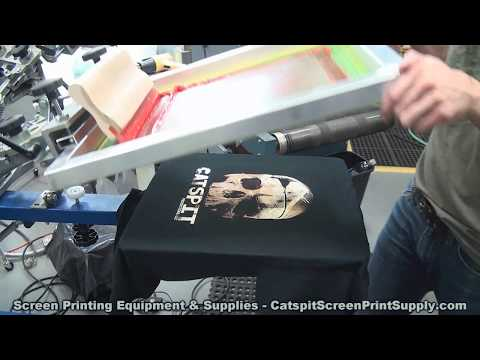 Screen Printing: Fun Experimental 3 Color Halftone On Black T-Shirts