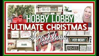 HOBBY LOBBY CHRISTMAS SHOP WITH ME & HAUL | FARMHOUSE CHRISTMAS DECOR 2019
