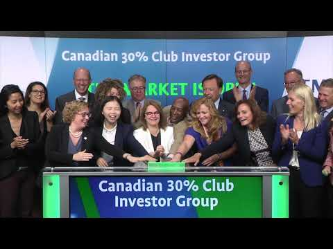 Canadian 30% Club Investor Group opens Toronto Stock Exchange, September 7, 2017