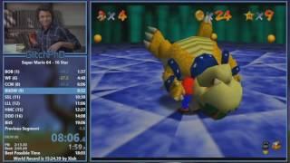 Super Mario 64 - 16 Star Speedrun (17:42)