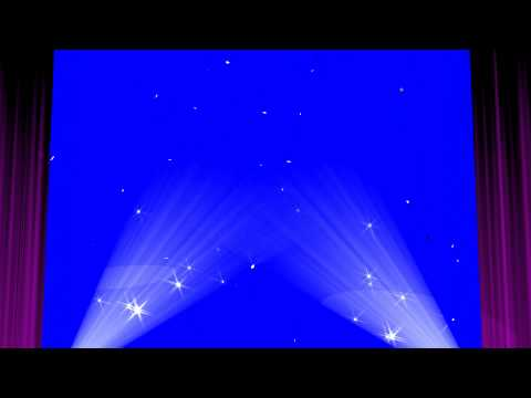 Stage Curtain Blue Screen Show   Royalty Free Video Effect Footage VFX
