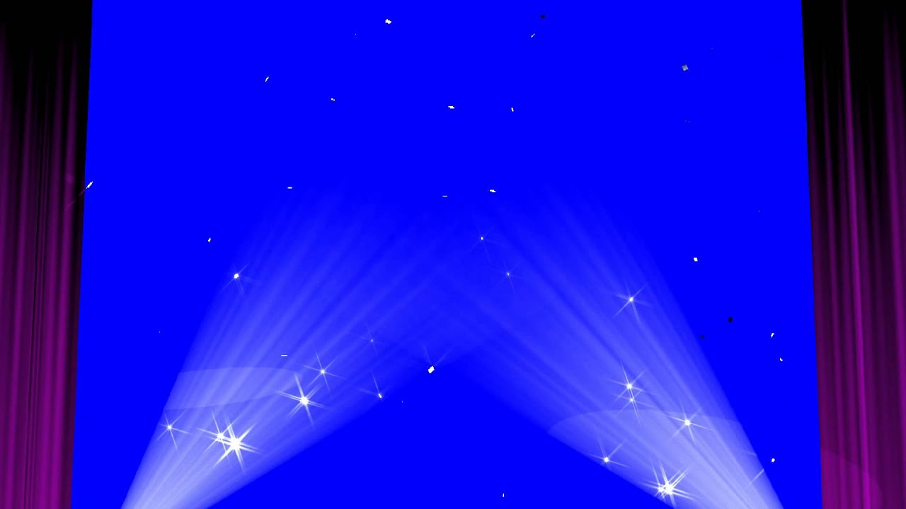 Stage Curtain Blue Screen Show Royalty Free Video Effect Footage VFX ...