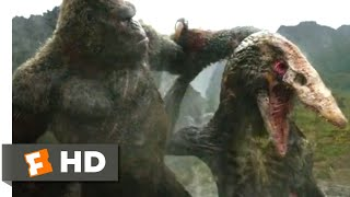 Kong: skull island (2017) - kong vs. skullcrawler scene (9/10) | movieclips