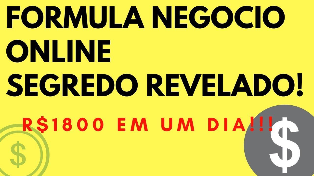 FORMULA NEGOCIO ONLINE FUNCIONA? SEGREDO REVELADO!!