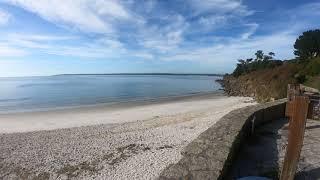 Concarneau plage des sable blancs 4K