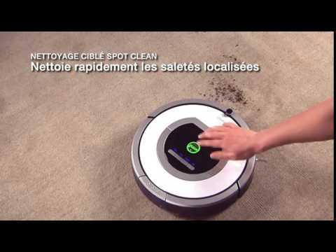 Démonstration De L'Aspirateur Robot Roomba 765 - Youtube