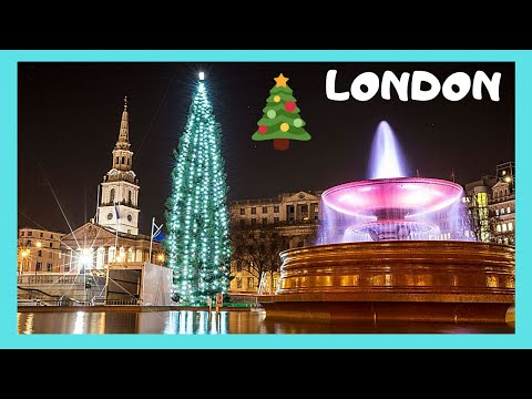 Christmas Tree From Norway At Londons Trafalgar Square