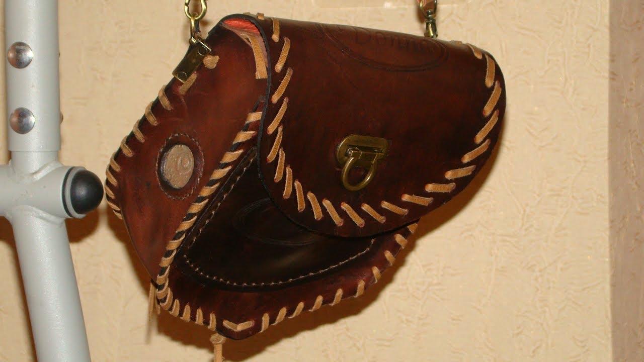 e306dea3f5e7 Женская сумка из натуральной кожи своими руками - YouTube