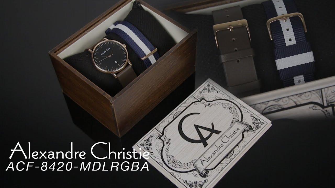 Alexandre Christie Jam Tangan Pria Leather Strap Ac 8484 Black Man7 Divers Ac6428 Rose Original 8420 Md Lrgba Man Dial Brown