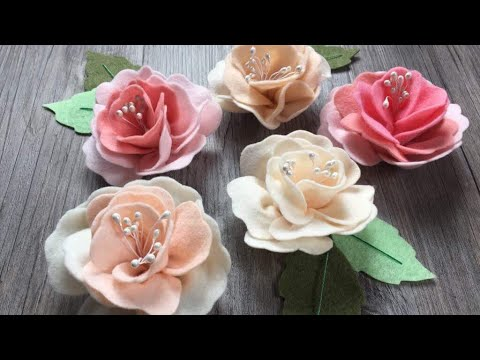 Fiori In Pannolenci.Diy How To Make Easy Felt Roses Tutorial Come Realizzare Rose In