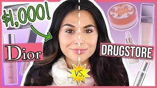 Recreating my 1000 DIOR Makeover with DRUGSTORE Products