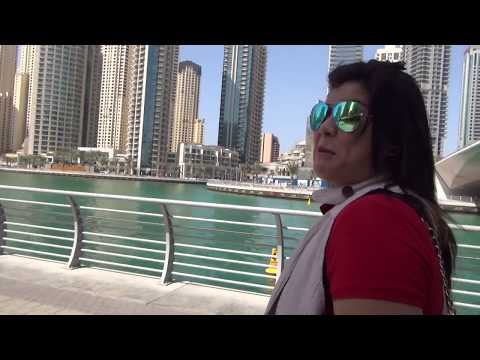 what a nice VIEW in DUBAI!!! Exploring DUBAI MARINA and MAN MADE LAKE!!!