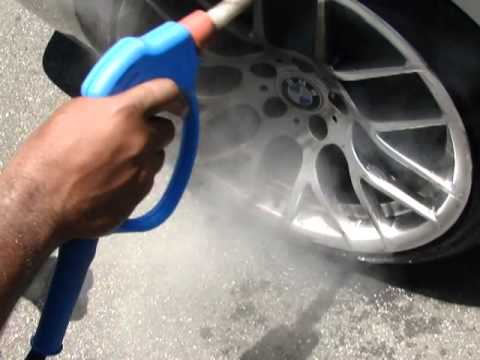 Steam Cleaning BMW Rims