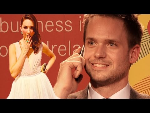 Patrick J. Adams (Suits) takes unexpected call from girlfriend Troian Bellisario at UCD, Dublin