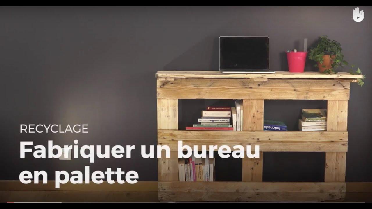 Fabriquer un bureau en palette recycler youtube