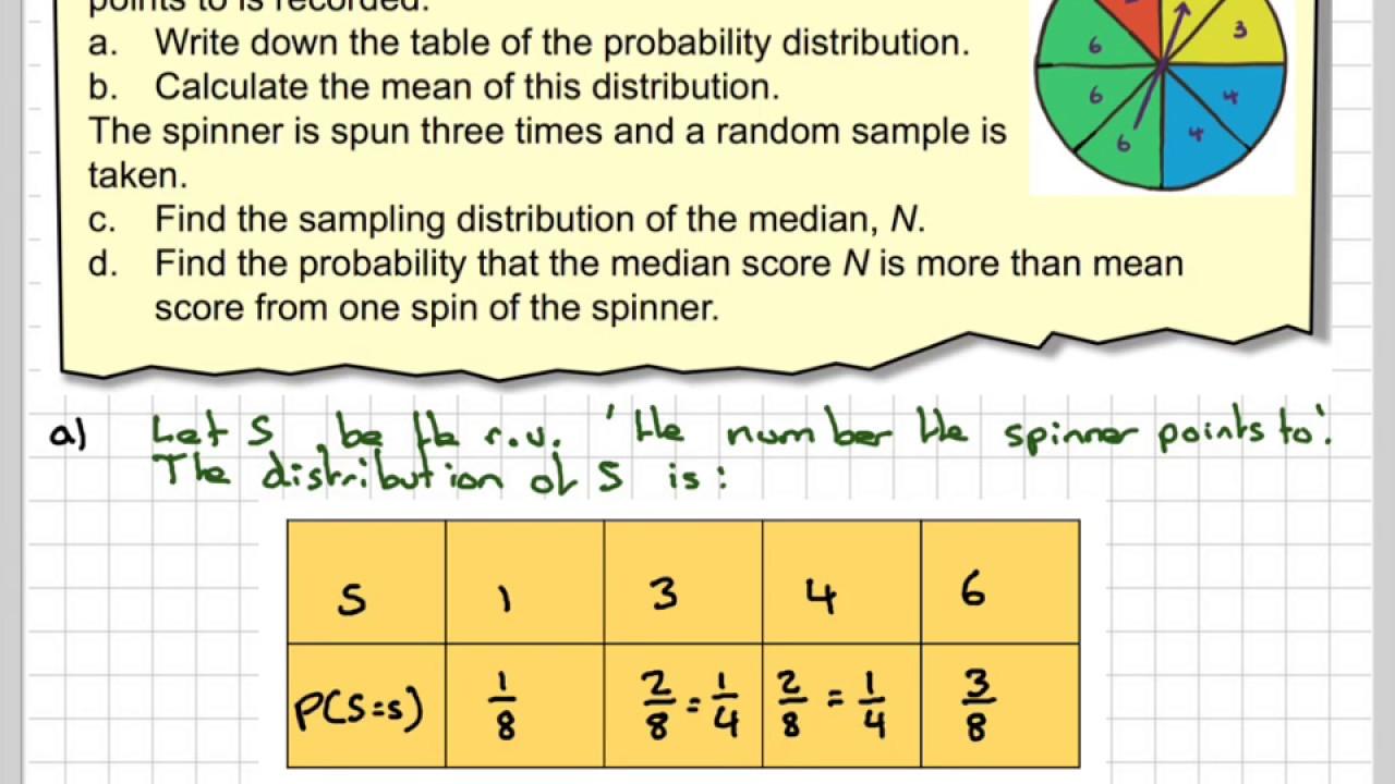 Sampling distribution of the median score on a spinner youtube sampling distribution of the median score on a spinner ccuart Gallery