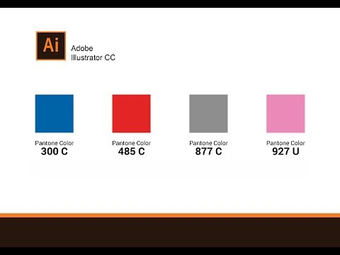 How To Find Pantone Color Using Pantone Number/ Adobe Illustrator CC