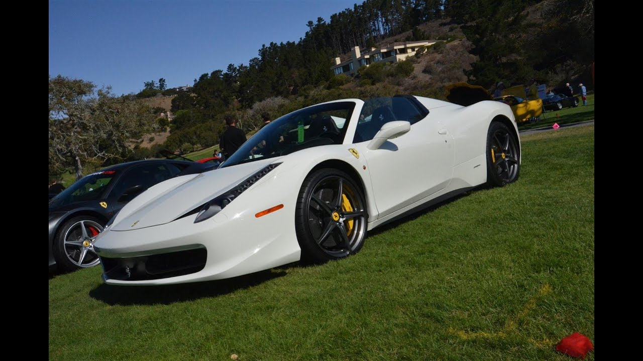 Ferrari 458 Spider White - YouTube