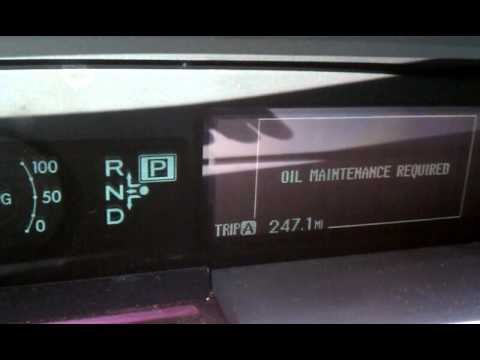 Toyota Prius Oil Maintenance Light Reset