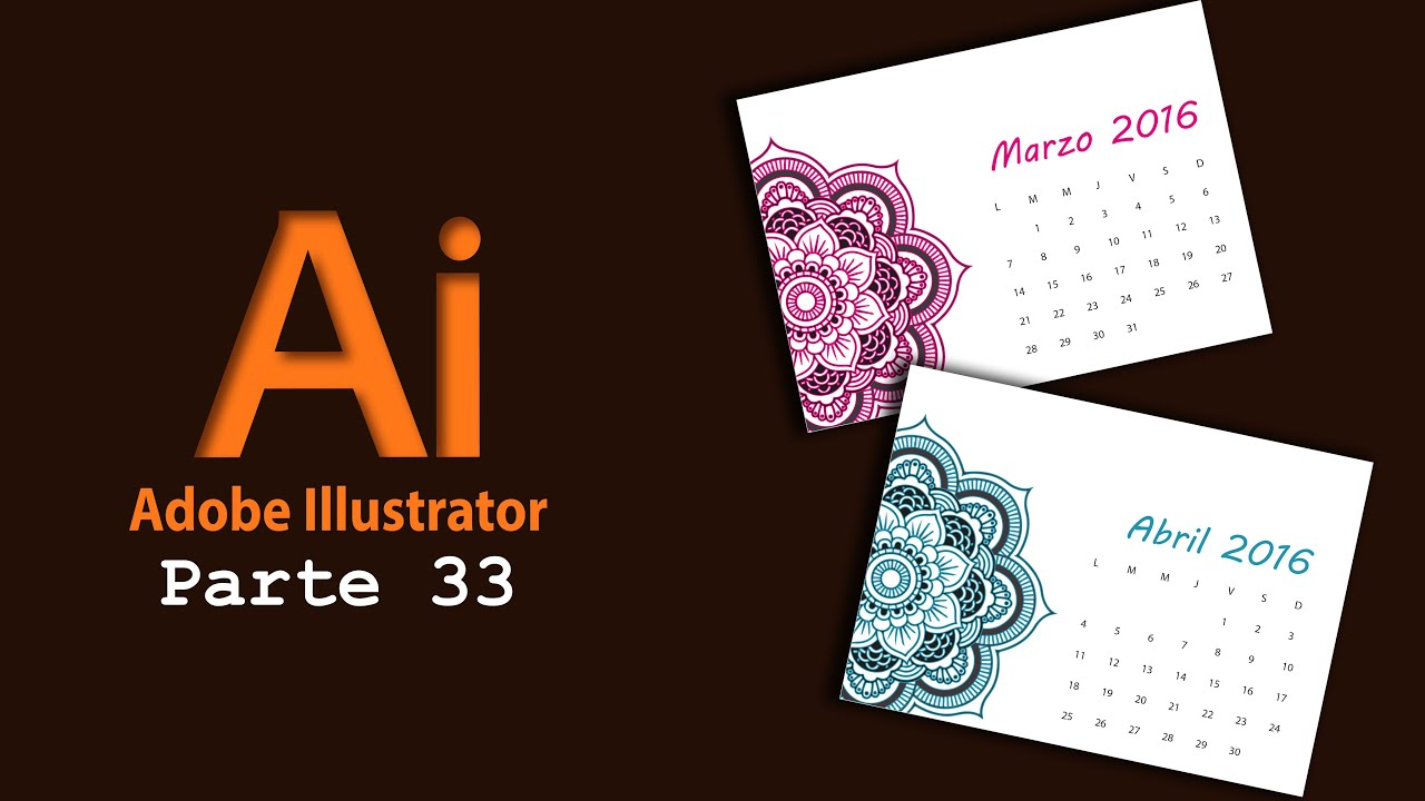 Adobe Illustrator 33) Crear calendario en illustrator - YouTube