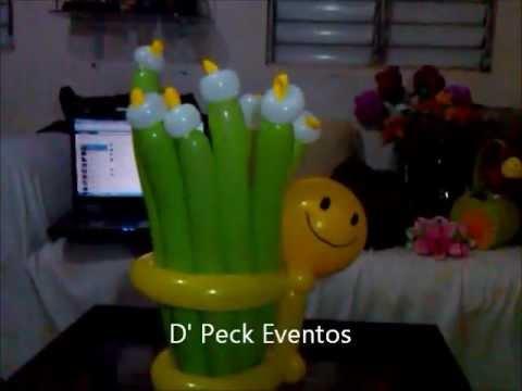 Centro de mesa carita feliz globoflexia youtube - Mesa de centro plegable ...