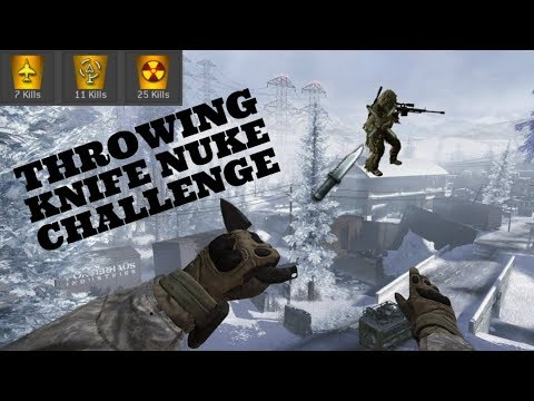 MW2- Throwing Knife Tactical Nuke Challenge!