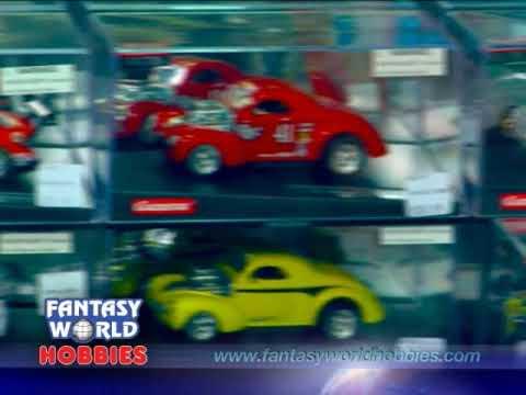 Fantasy World Hobbies 1/32 Carrera slot cars demo commercial FantasyWorldHobbies.com