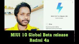 Redmi 4a MIUI 10 8.7.12 Update release..!! MIUI 10 in Redmi 4a!! Hindi
