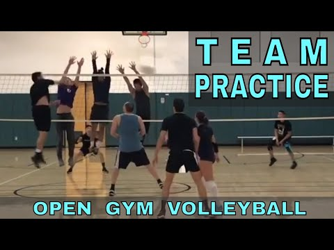 TEAM PRACTICE - Open Gym Volleyball Highlights (1/11/18) part 2