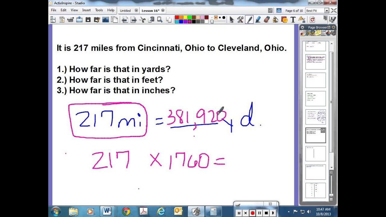 Saxon Math Course 2 Lesson 16 Converting Measurementsfunction