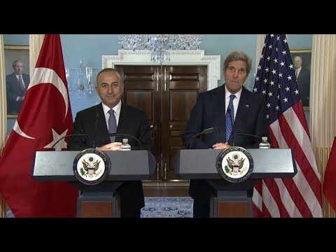 Secretary Kerry Delivers Remarks With Turkish Minister of Foreign Affairs Cavusoglu