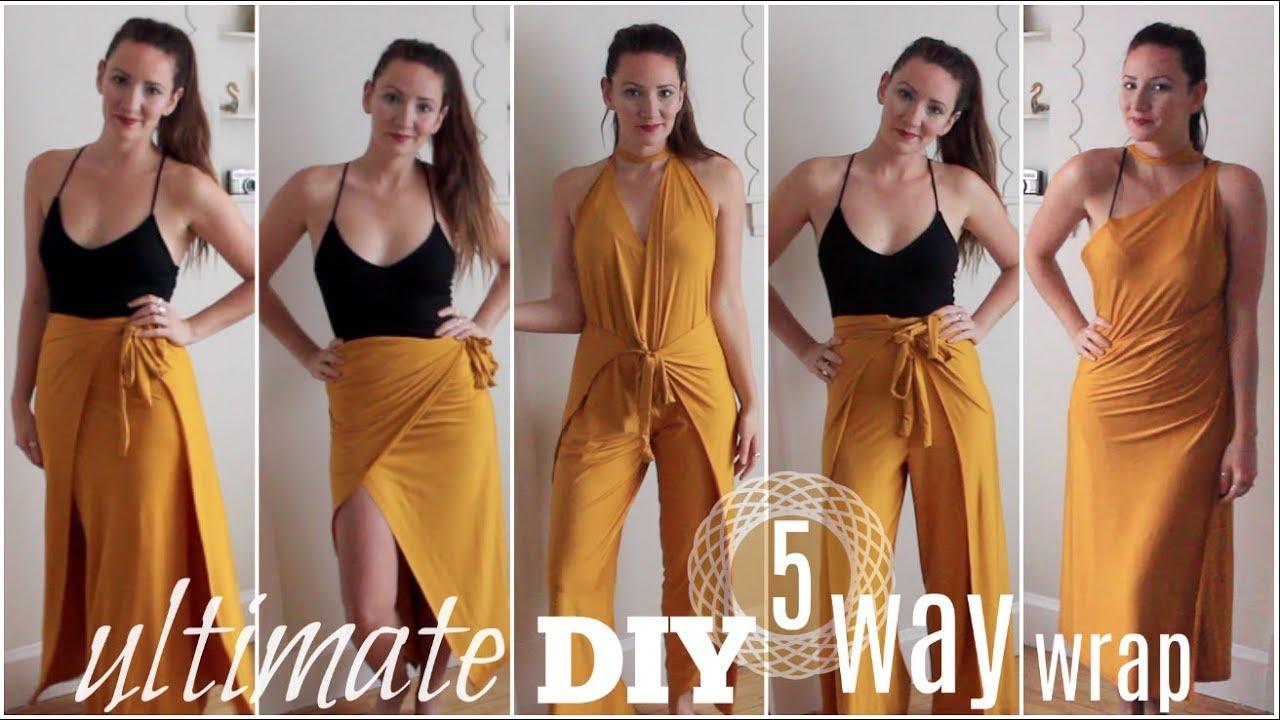 84d3f046ddbf6 Ultimate DIY Wrap | 1 Piece 5 Ways - YouTube
