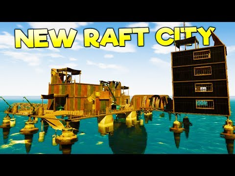 NEW RAFT CITY! TOWING GIANT BARGES FOR MONEY + LEVIATHANS IN