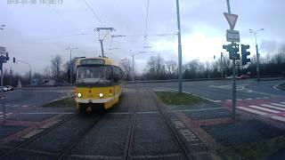 Plzeň TRAM # BOLEVEC - SLOVANY I.část # LINKA 1 (vůz 318)