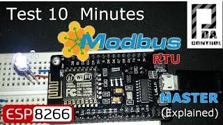 NodeMCU ESP8266 12E   Modbus RTU  Master v2 (Improved - Mejorado): PDAControl