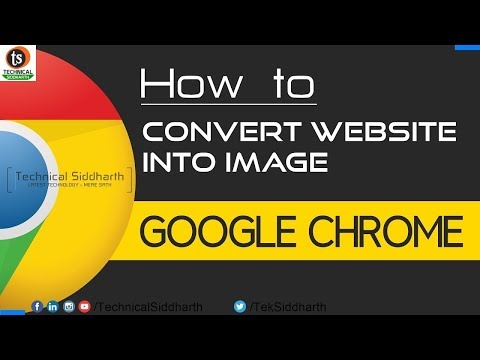 How To Convert Any Website Into Image | Full Web Page Screenshots | Chrome | Technical Siddharth